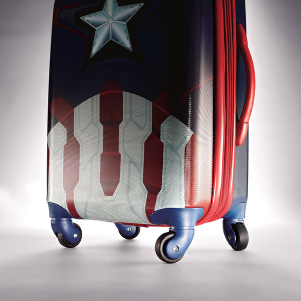 """American Tourister Marvel All Ages 28"""" Spinner in the color Captain America."""