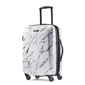 """American Tourister Moonlight 21"""" Spinner in the color Marble."""