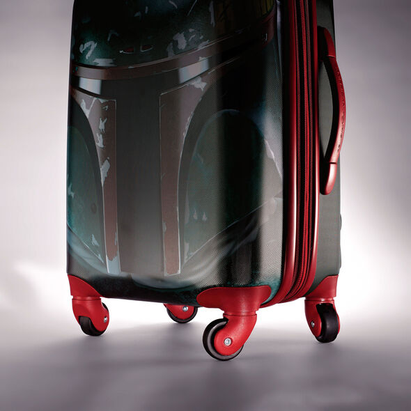 "American Tourister Star Wars 20"" Spinner in the color Boba Fett."