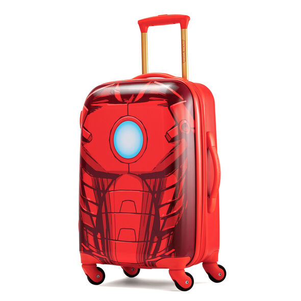 """American Tourister Marvel All Ages 21"""" Spinner in the color Iron Man."""