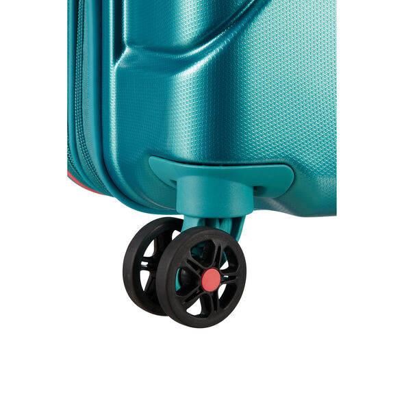 """American Tourister Technum 20"""" Spinner in the color Jade Green."""