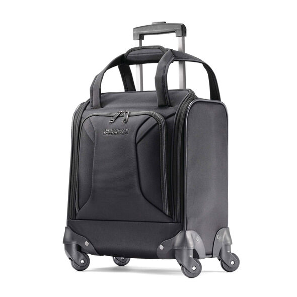 American Tourister Zoom Undearseater Spinner Tote in the color Black.
