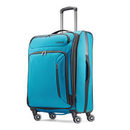 """American Tourister Zoom 25"""" Spinner in the color Teal Blue."""