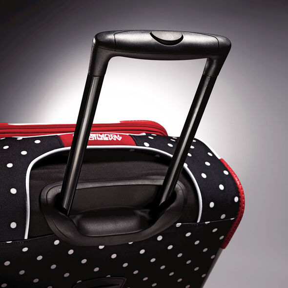 """American Tourister Disney Minnie Mouse 21"""" Spinner in the color Minnie Mouse Red Bow."""