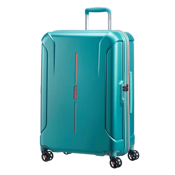 """American Tourister Technum 24"""" Spinner in the color Jade Green."""