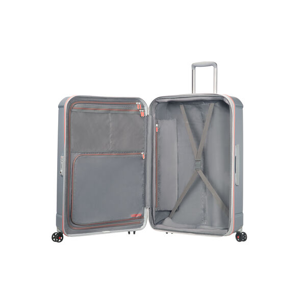 "American Tourister Technum 28"" Spinner in the color Grey/Red."