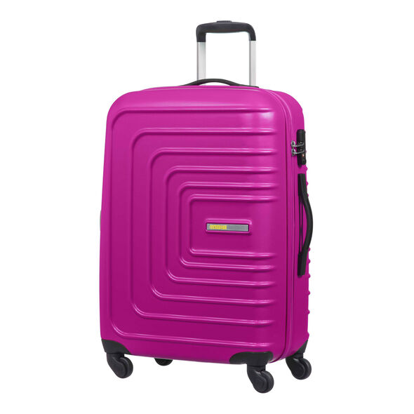 """American Tourister Sunset Cruise 24"""" Spinner in the color Pink Berry."""