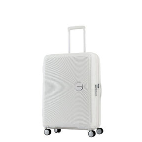 """American Tourister Curio 20"""" Spinner in the color White."""