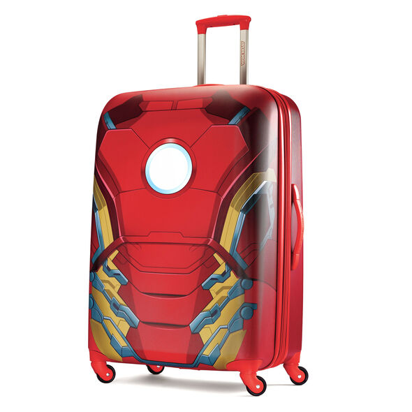 """American Tourister Marvel All Ages 28"""" Spinner in the color Iron Man."""
