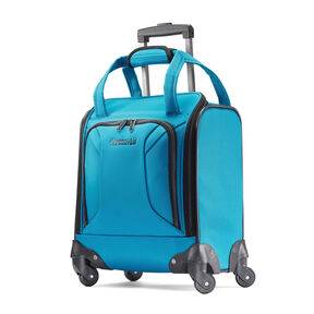American Tourister Zoom Undearseater Spinner Tote in the color Teal Blue.