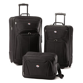 American Tourister Fieldbrook II 3 Piece Set in the color Black.