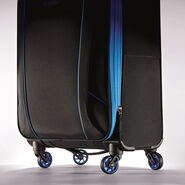 "American Tourister Skylite 24"" Spinner in the color Black/Blue."