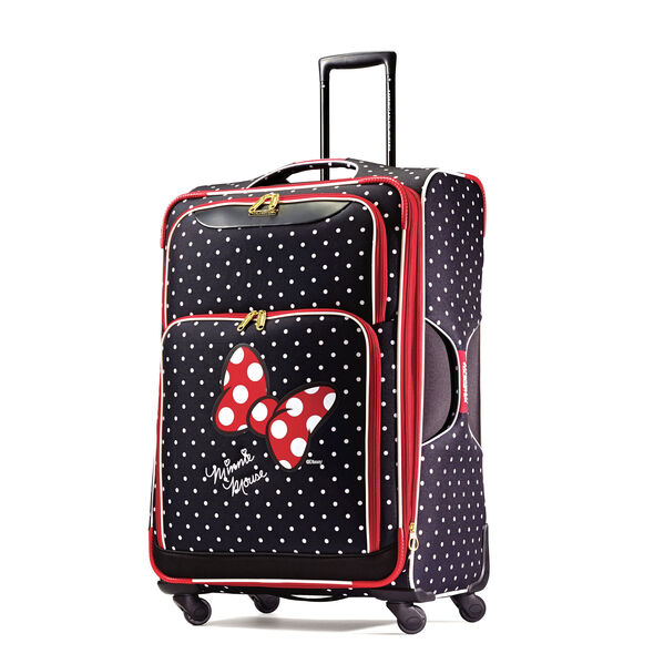 """American Tourister Disney Minnie Mouse 28"""" Spinner in the color Minnie Mouse Red Bow."""