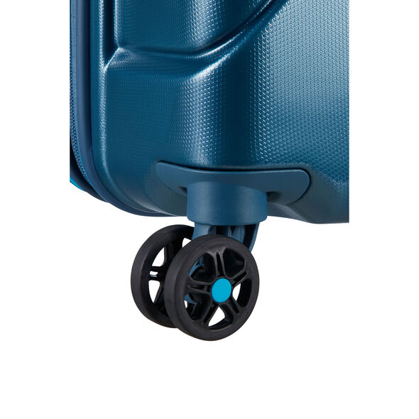 "American Tourister Technum 24"" Spinner in the color Metallic Blue."