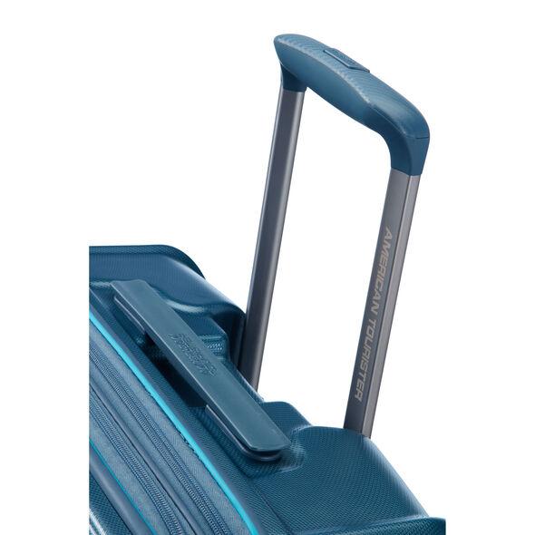 """American Tourister Technum 28"""" Spinner in the color Metallic Blue."""