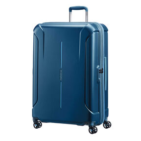 "American Tourister Technum 28"" Spinner in the color Metallic Blue."