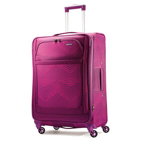 """American Tourister iLite Max 25"""" Spinner in the color Pink/Purple Stripes."""