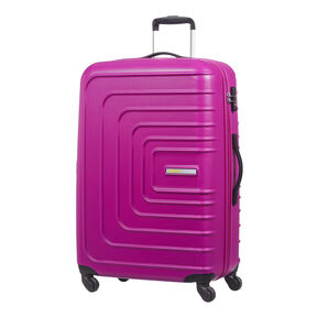 """American Tourister Sunset Cruise 28"""" Spinner in the color Pink Berry."""