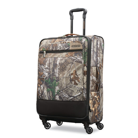 "American Tourister Realtree 25"" Spinner in the color Camouflage Green."