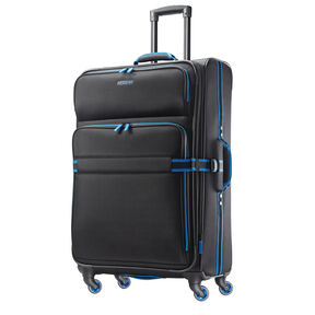"American Tourister EXO Eclipse 29"" Spinner in the color Black/Blue."
