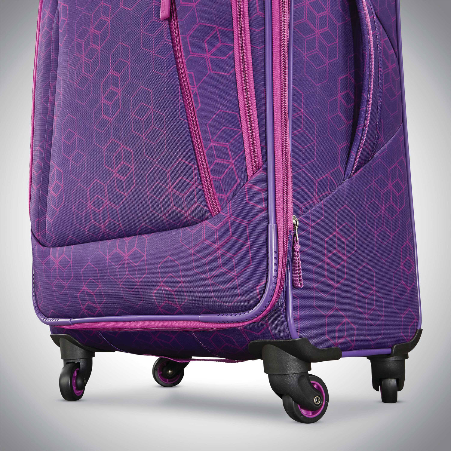"""eb0efbd39 American Tourister Sonic 25"""" Spinner in the color Purple Print."""