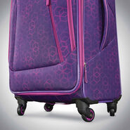 "American Tourister Sonic 25"" Spinner in the color Purple Print."
