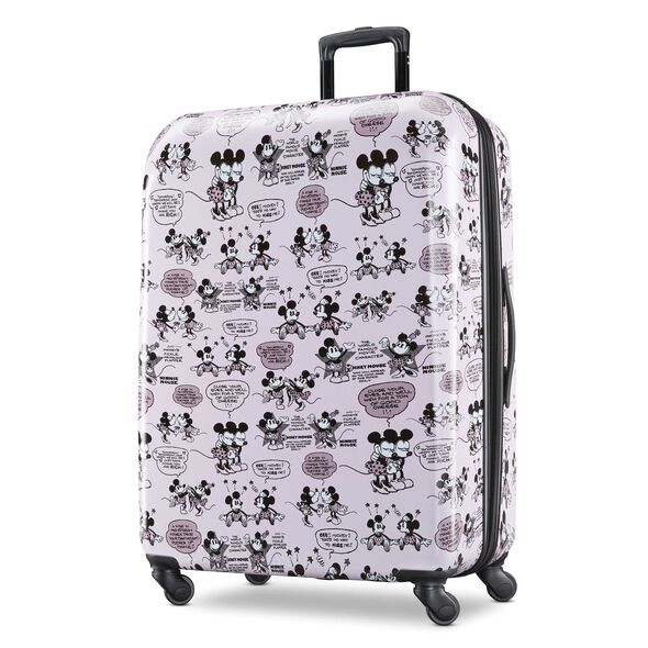 """American Tourister Disney Mickey & Minnie Romance 28"""" Spinner in the color Mickey/Minnie Kiss."""