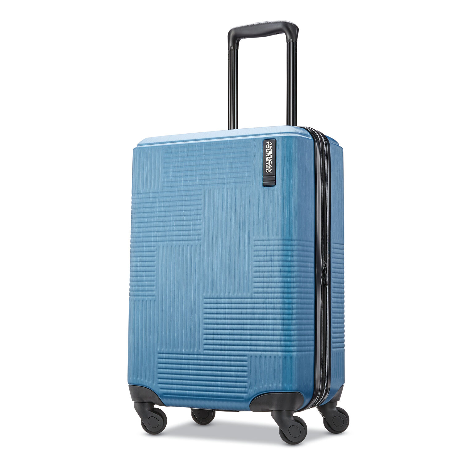 """American Tourister Stratum XLT 20"""" Spinner in the color Blue."""