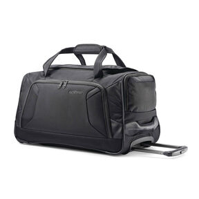 "American Tourister Zoom 22"" Wheeled Duffel in the color Black."