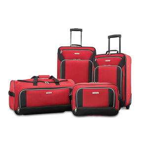 American Tourister Fieldbrook XLT 4 Piece Set in the color Red/Black.