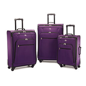 American Tourister Pop Plus 3 Piece Set in the color Purple.