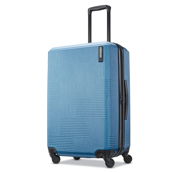 "American Tourister Stratum XLT 24"" Spinner in the color Blue."