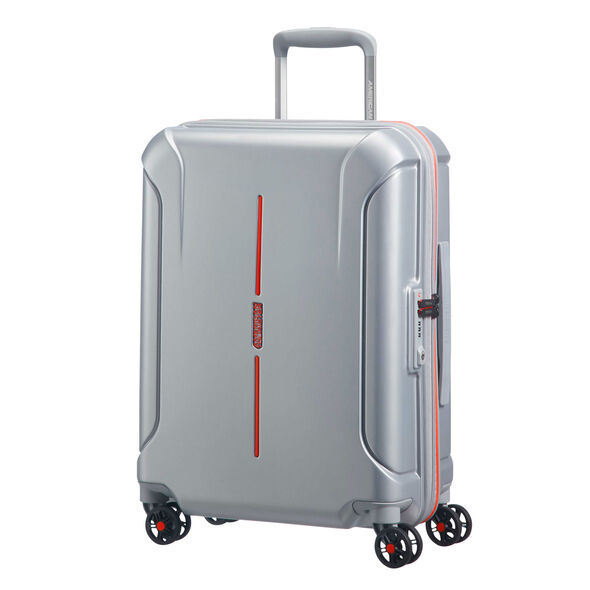 """American Tourister Technum 20"""" Spinner in the color Grey/Red."""