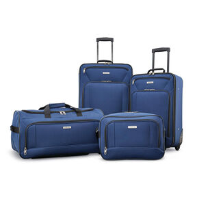 American Tourister Fieldbrook XLT 4 Piece Set in the color Navy.