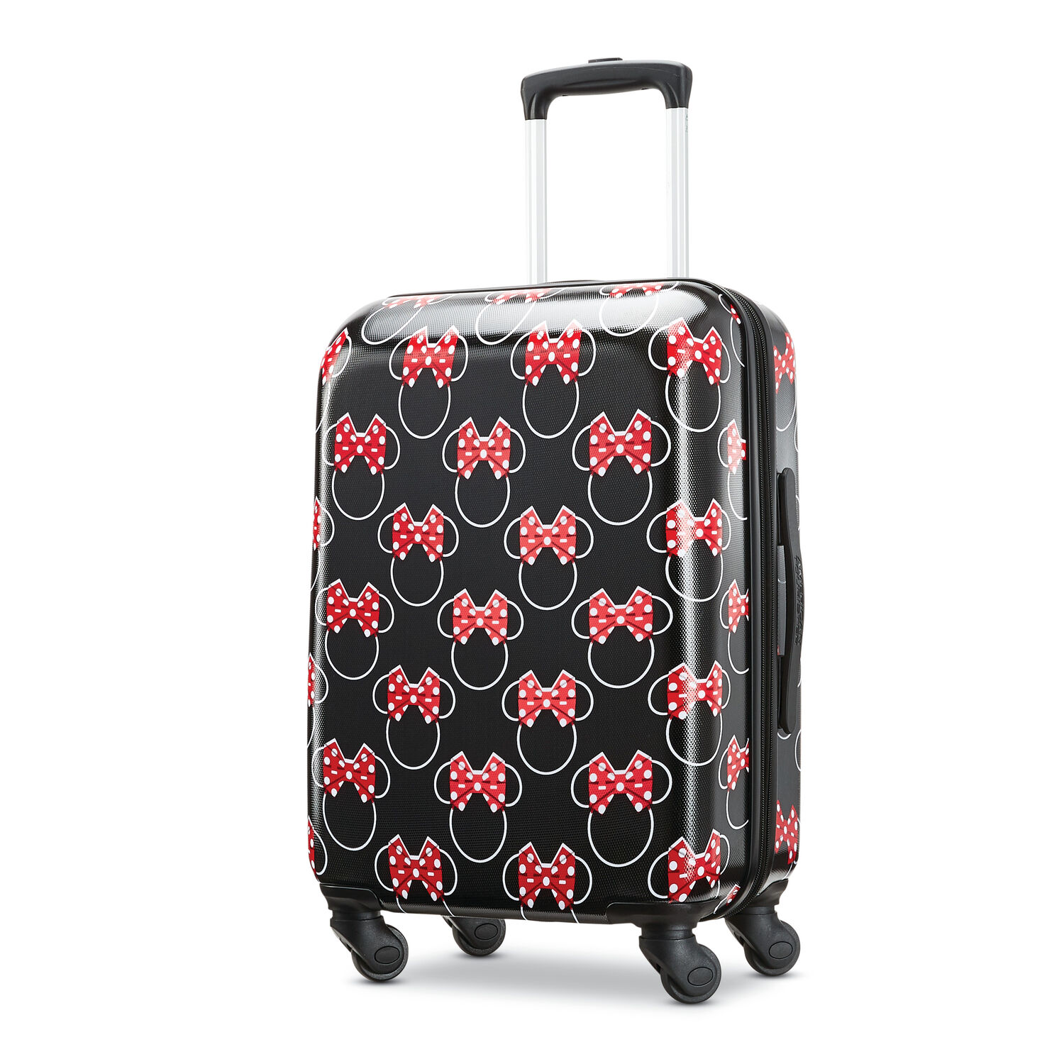 """American Tourister Disney Minnie Bows 20"""" Spinner in the color Minnie Mouse Red Bows."""