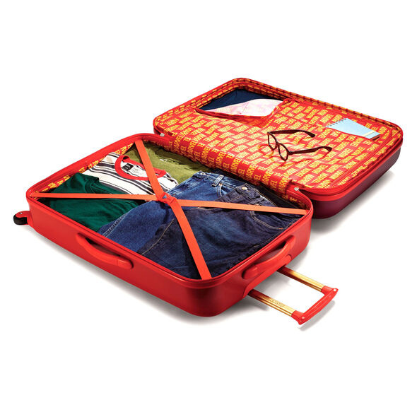 """American Tourister Marvel 28"""" Spinner in the color Iron Man."""