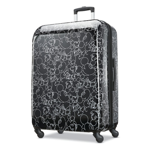 """American Tourister Disney Mickey Scribble 28"""" Spinner in the color Mickey Mouse Multi Face."""