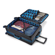 """American Tourister EXO Eclipse 24"""" Spinner in the color Black/Blue."""