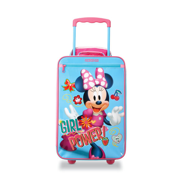 """American Tourister Disney Kids 18"""" Softside Upright in the color Minnie."""