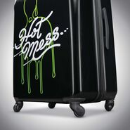 "American Tourister Nickelodeon Slime 21"" Spinner in the color Slime."