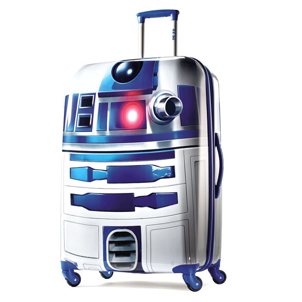 """American Tourister Star Wars 28"""" Spinner in the color R2D2."""