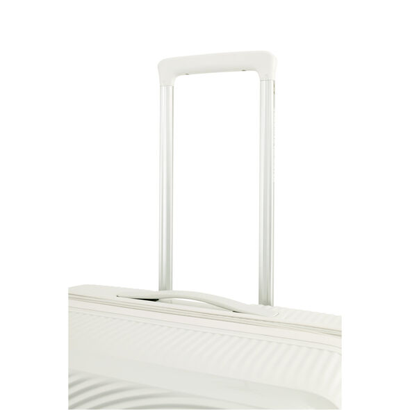 """American Tourister Curio 29"""" Spinner in the color White."""