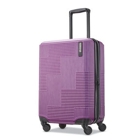 "American Tourister Stratum XLT 20"" Spinner in the color Plum."