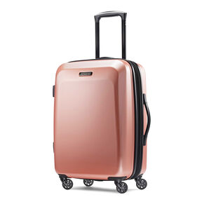 "American Tourister Moonlight 21"" Spinner in the color Rose Gold."