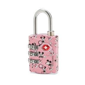 American Tourister Disney TSA 3 Dial Combo Lock in the color Mickey/Minnie Kiss.