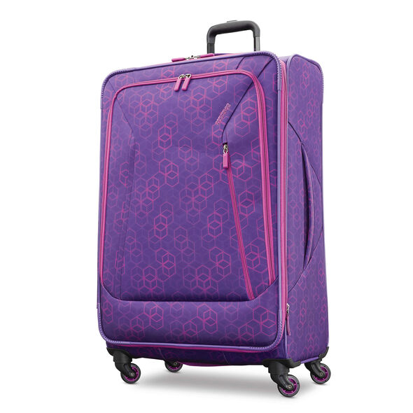 "American Tourister Sonic 28"" Spinner in the color Purple Print."