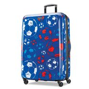 "American Tourister Moonlight 28"" Spinner in the color Red/White/Blue."