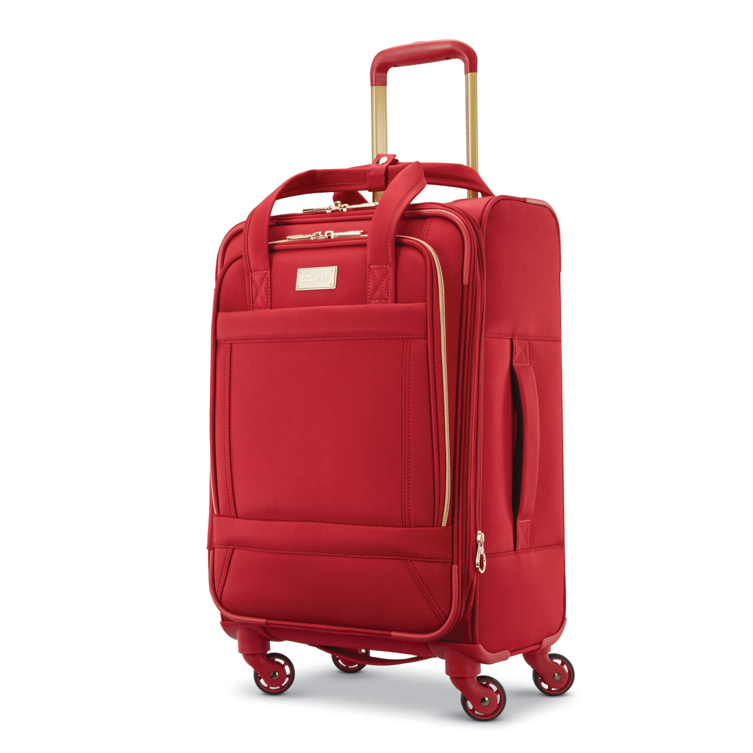 """American Tourister Belle Voyage 21"""" Spinner in the color Red."""