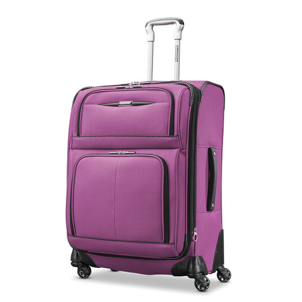 "American Tourister Meridian NXT 25"" Spinner in the color Purple."