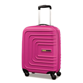 """American Tourister Sunset Cruise 20"""" Spinner in the color Pink Berry."""